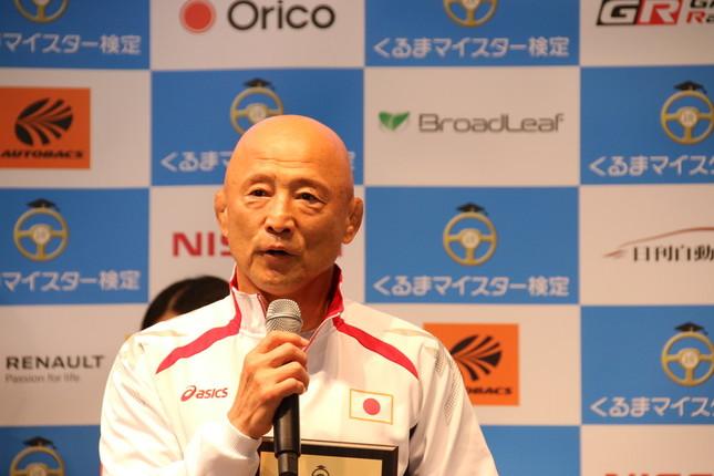 全日本女子レスリングヘッドコーチの栄和人さん(16年9月7日撮影)