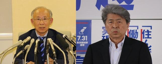 宇都宮氏(左)と鳥越氏(右)がテレビ番組で対話した。