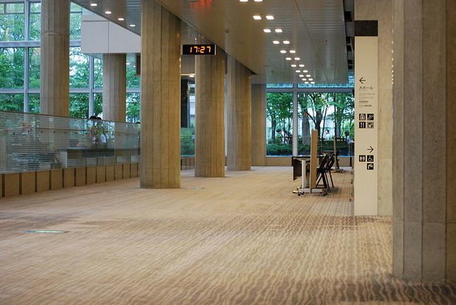 トラブルは起こっていないが…(写真はつくば国際会議場の館内。Wikimedia Commonsより)