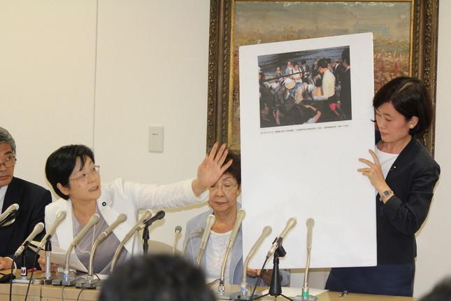 共産党都議団が分析結果を発表した(写真は2016年9月16日撮影)