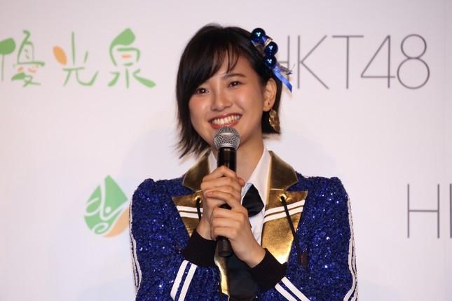 HKT48の兒玉遥さん。9月19日に20歳の誕生日を迎えたばかりだ