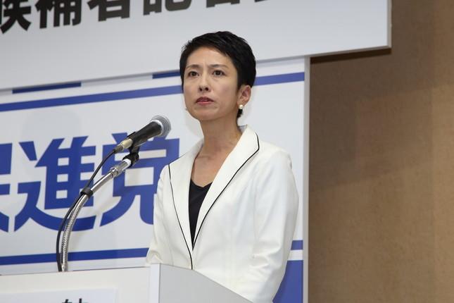 民進党の蓮舫新代表(写真は代表選告示日の16年9月2日撮影)