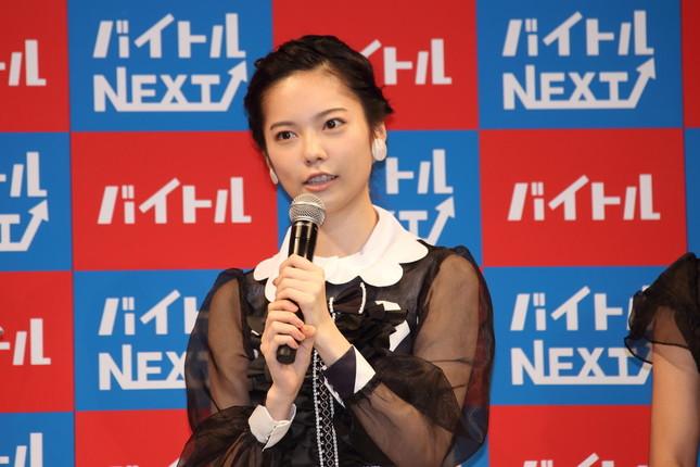 AKB48卒業を発表した島崎遥香さん(2016年10月3日撮影)