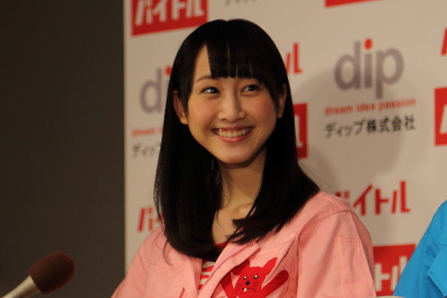 ツイートを大量に削除した松井玲奈さん。アイドルやアニメオタクとしても知られている(2014年撮影)