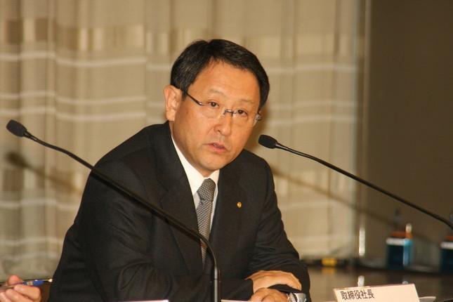 トヨタの豊田章男社長(写真は2010年2月撮影)