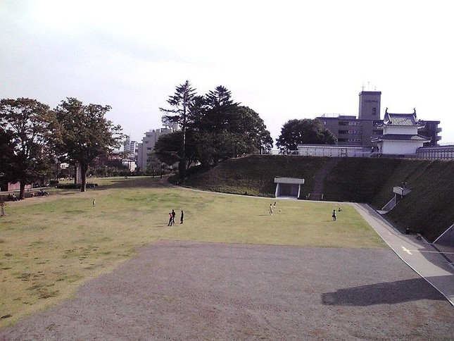 爆発の起こった宇都宮城址公園(Wikimedia Commonsより)