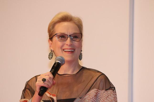 女優のメリル・ストリープさん。映画祭のオープニング作品で主演を務めている(写真は2016年10月25日撮影)