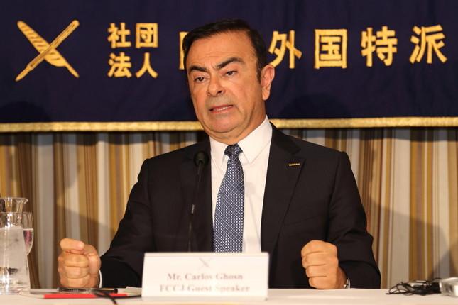 三菱自動車の会長に就任する日産自動車のカルロス・ゴーン社長(写真は2014年7月撮影)