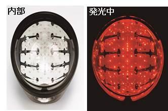 80個の赤色LEDが発光し、頭皮全体を照射する