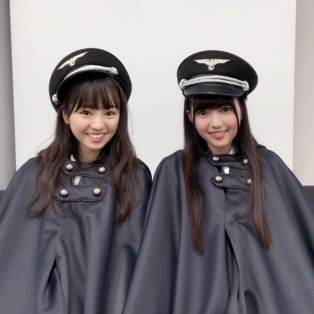 物議を醸している欅坂46のナチス風衣装(写真は欅坂46公式ブログから)