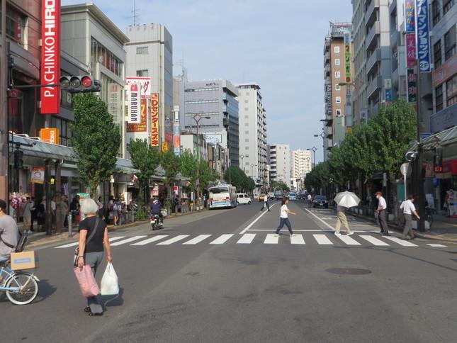 ゴジラが襲った蒲田東口の大通り(2016年9月2日、Jタウンネット編集部撮影)