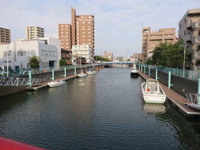 ふだんは静かな呑川(2016年9月2日、Jタウンネット編集部撮影)