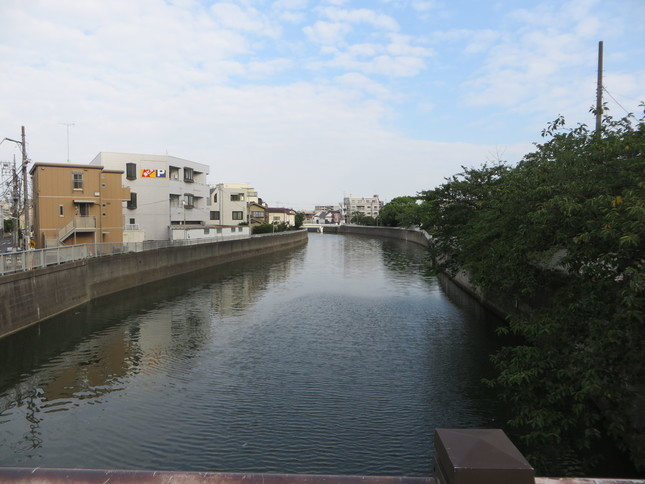 この川を正面から突進してくる(2016年9月2日、Jタウンネット編集部撮影)