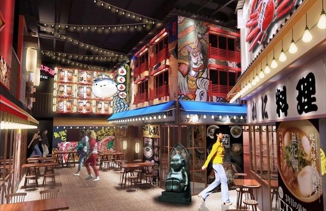 「スクフェス」のKLabが、海外でラーメン事業を展開(画像は、「ラーメンアリーナ」の館内イメージ)