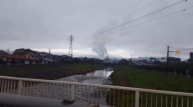 午前6時58分ごろ、福島県の蛭田川の様子(「ONO-MA(ry」さん提供)