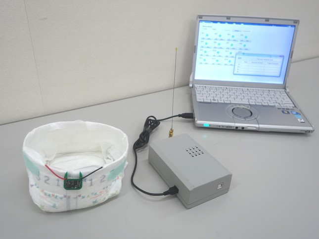 立命館大学が研究を進める尿失禁センサシステム(提供:立命館大学 研究部 BKCリサーチオフィス)