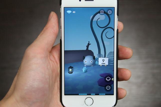 アプリメイン画面。キャラクター横の数字はその日のスタンド数で、タップすると詳細が見られる