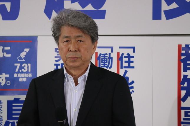 鳥越さんは「日本死ね」の新語・流行語大賞に「賛成」!(2016年7月31日撮影)