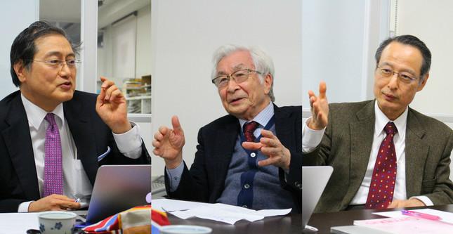 座談会に出席したDAAの3人の医師。(左から)山田氏、塩谷氏、大慈弥氏