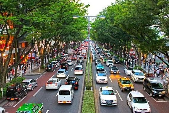 幹線道路沿いは大気汚染物質が多い
