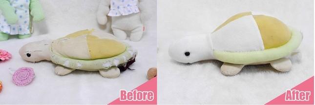 表面の破れ、色味、綿のふくらみも「治療」(写真は公式サイトから)