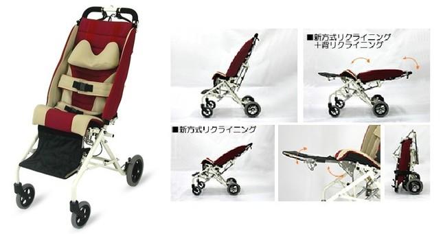 バギー型子ども用車いす。複数のタイプがある(画像は、きさく工房公式サイトから)