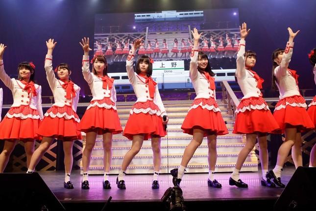 NGT48の初のオリジナル曲「Maxとき315号」では高倉萌香さんがセンター務めた (c)AKS