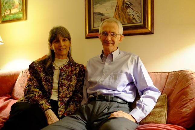 ニューヨーカーとしては数少ない、トランプ支持者のロブ&ベッツィ・ランカスター 夫妻(自宅で撮影)