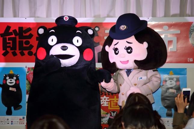 くまモンと東京メトロのキャラクター「駅乃みちか」が初共演した