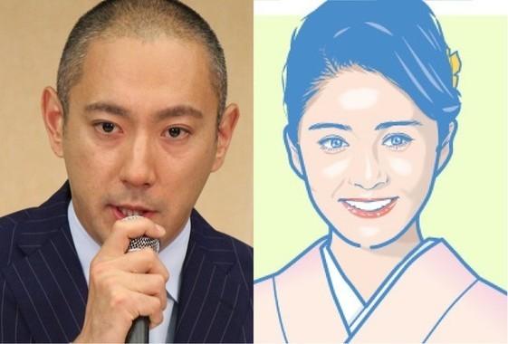 市川海老蔵さん(左)と小林麻央さん