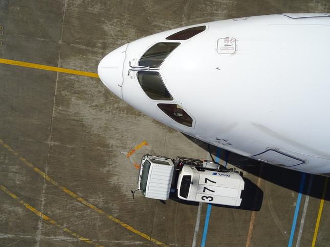 ドローンは10分間かけて自動飛行した(エアロセンス提供)
