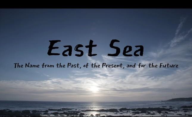 韓国外務省がユーチューブの公開した動画。「韓国は『東海』の名前を2000年以上にわたって使い続けてきた」と主張している