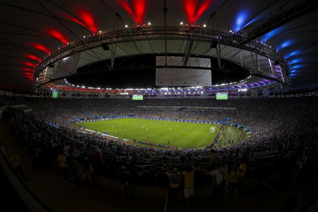 FIFAの規定でW杯開催には巨大なスタジアムが複数必要となる(写真は2014年ブラジル大会決勝。Wikimedia Commonsより)
