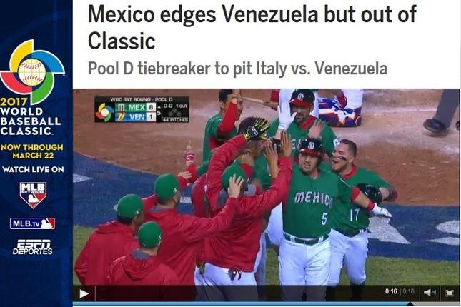 ベネズエラとの試合には勝ったメキシコだが(画像はWBC公式サイトから)