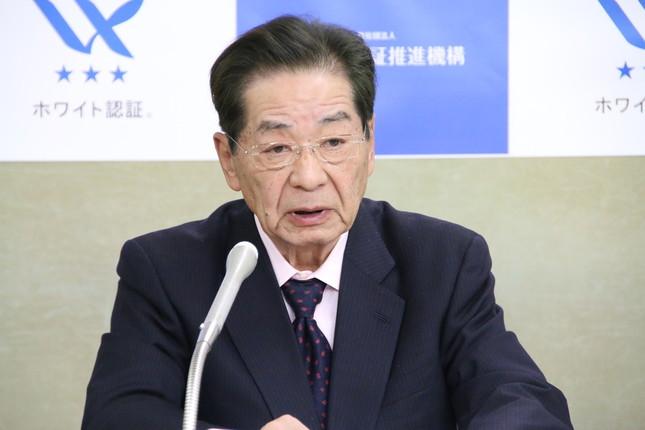 ホワイト認証推進機構・理事長の仙谷由人氏