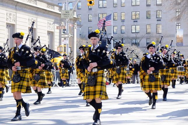 3月17日にNYマンハッタンで行われたセント・パトリックス・デー・パレード