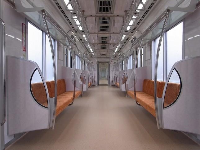 通常の銀座線1000系車両の内装(東京メトロ提供)