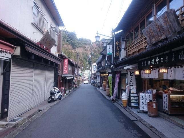 長谷寺の参道(永太郎さん撮影)