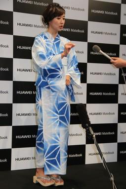 昨夏、浴衣姿でイベントに出席していた菊川さん(写真は2016年7月撮影)