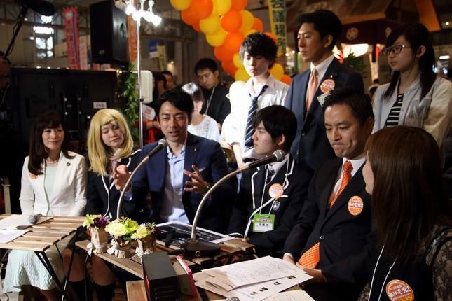 小泉進次郎氏は自民党ブースのトークイベントに出演した