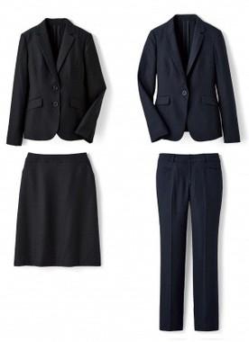 スカートスーツ(左)とパンツスーツの2 タイプ