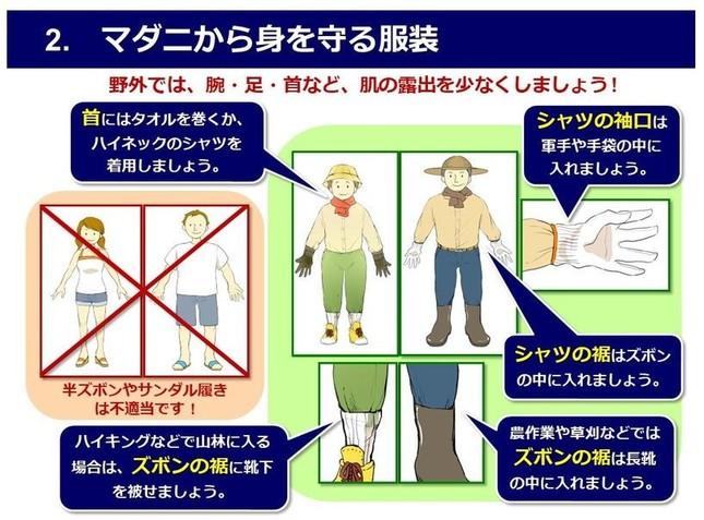 軽快な服装は危険(「マダニ対策、今できること」より)