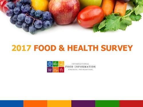 「2017 Food and Health Survey(食と健康の調査)」のフロントページ