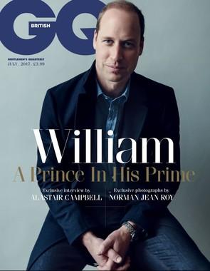 ウィリアム王子のインタビューを掲載した「GQ」英国版(同誌ウェブサイトから)