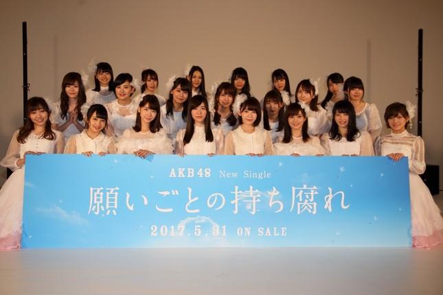 試写会にはAKB48グループの21人が参加した