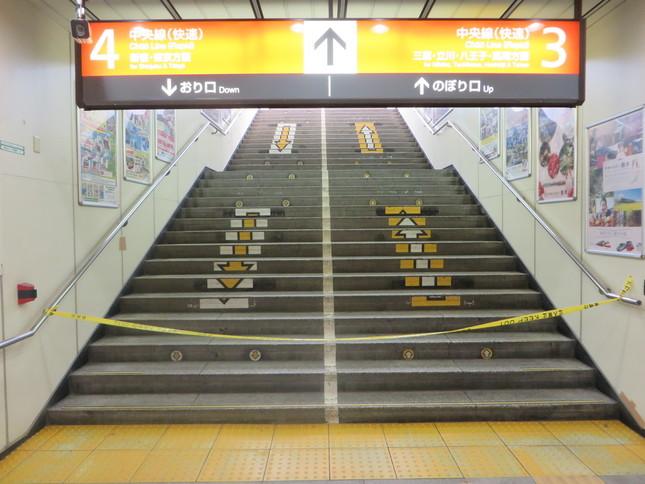 階段には進入できなくなっていた(J-CASTニュース撮影)