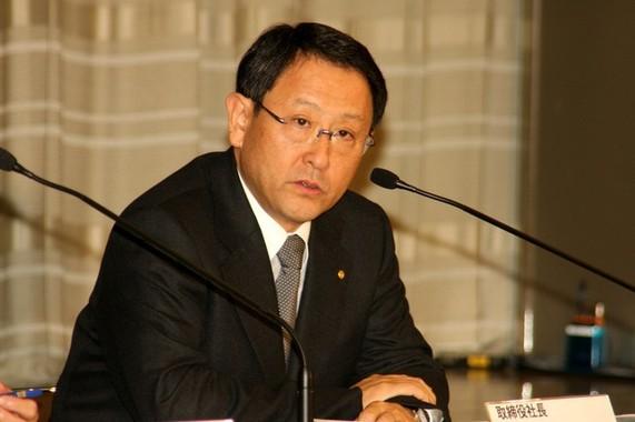 トヨタ自動車の豊田章男社長(2010年撮影)