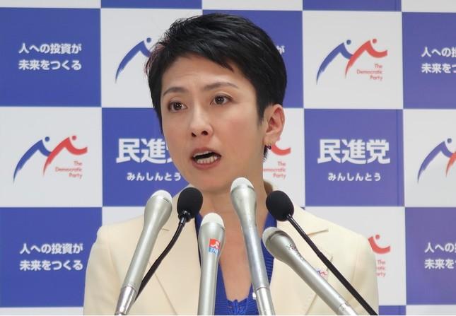 民進党の蓮舫代表(写真は2017年4月J-CASTニュース編集部撮影)
