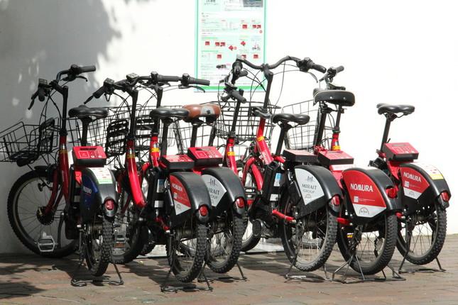 東京都千代田区にある自転車シェアリングの「ポート」