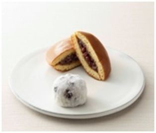 金時米菓のどら焼きと大福(高島屋の発表資料より)